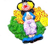 Wanddeco Clown Staand 60X53cm