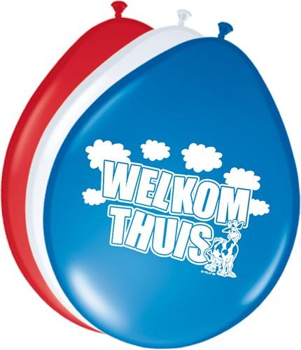 Ballonnen Welkom thuis 8st