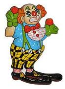 Wanddeco Clown met Grote Schoenen (46x30cm)