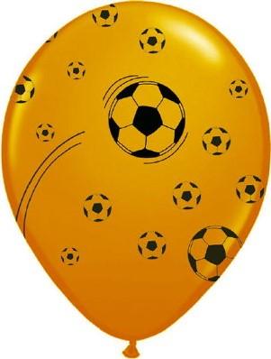 Ballonnen Oranje 100st Bedrukt Voetbal
