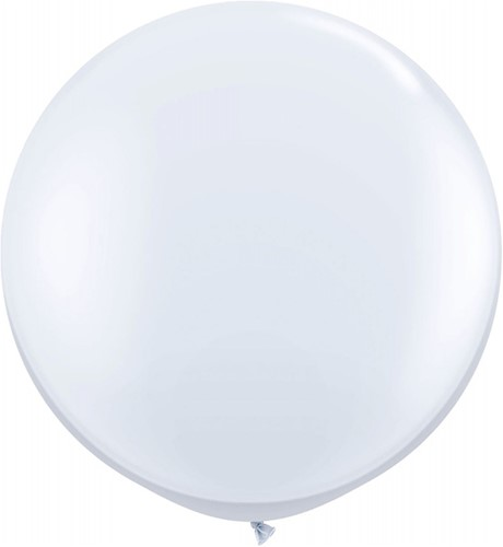 Topballon 90cm Wit