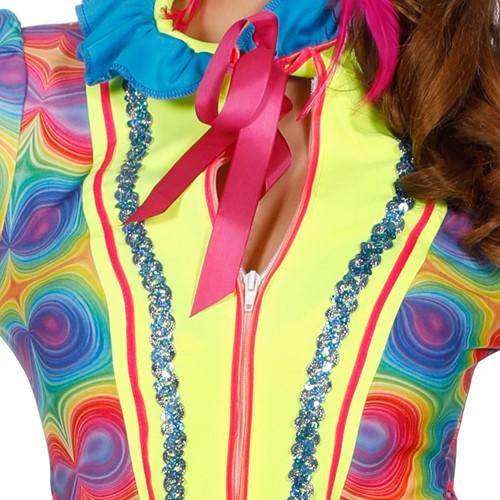 Carnavalsjas Neon Light Me Up voor dames (detail)