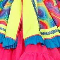 Carnavalsjas Neon Light Me Up voor dames (detail 2)