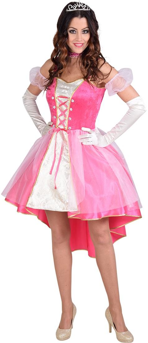 Roze Carnavalskleding Dames.Prinsessenjurk Elif Roze Voor Dames