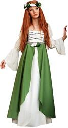 Damesjurk Middeleeuwse Jonkvrouw Groen