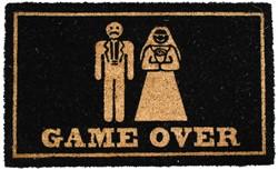 Deurmat GAME OVER bruidspaar