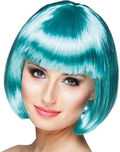 Pruik Bobline Cabaret Turquoise