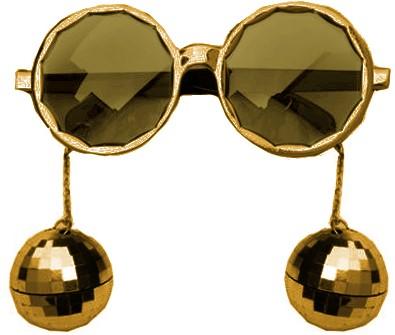 Bril Disco Ballen Goud
