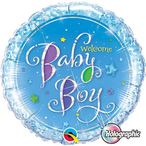 Folieballon Welcome baby boy