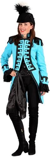 Carnavalsjas Nelson Turquoise Luxe voor dames