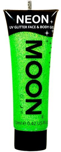 UV Gezicht en Body Schmink Glitter Groen (12ml)