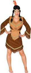 Indiaanse Dame Luxe Bruin