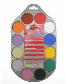 Waterschmink Palette 12 kleuren