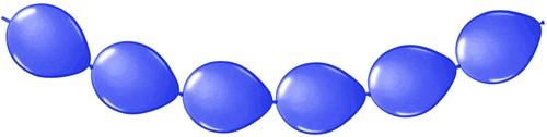 Doorknoopballonnen 8st. Blauw