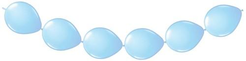 Doorknoopballonnen 8st. Lichtblauw