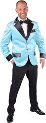 Glitter Colbert Turquoise voor heren