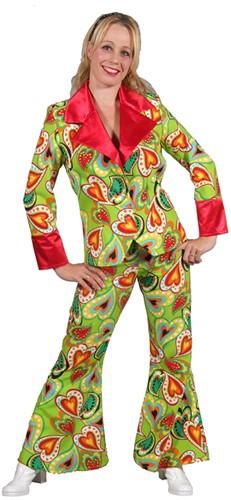 Disco Kostuum Green Hearts Dames