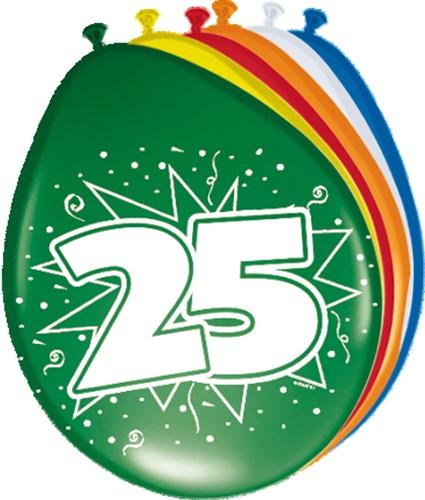 Ballonnen 25 jaar 8st