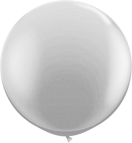 Topballon 90cm Zilver