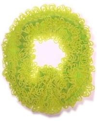Gebreide Sjaal Franjes Neon Geel