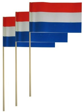 Papieren Handvlaggetje Nederland