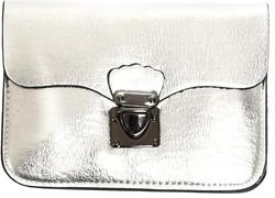 Enveloptasje met Hengsel Zilver (Clutch)