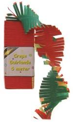 Crepeguirlande Rood/Geel/Groen 5 mtr.