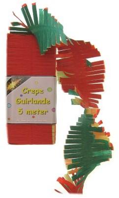 Crepeguirlande Rood/Geel/Groen 5mtr