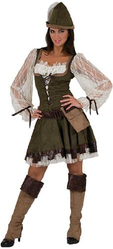 Dameskostuum Robin Hood Lady