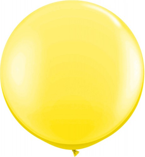 Topballon 90cm Geel