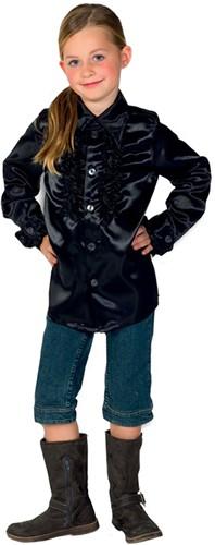Kinder Ruche Blouse Luxe Zwart