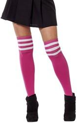 Cheerleader Sokken Pink/Wit
