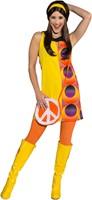 Damesjurkje Disco Geel/Circles