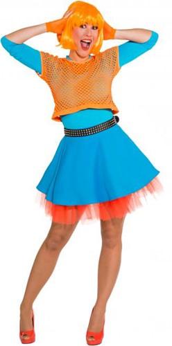 Nethemd Kort Luxe Neon Oranje