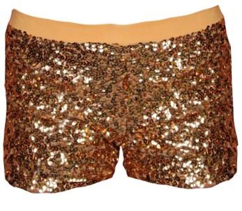 Hotpants Pailletten Goud