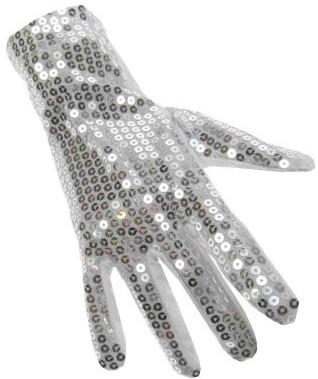 Handschoenen Pailletten Zilver Luxe