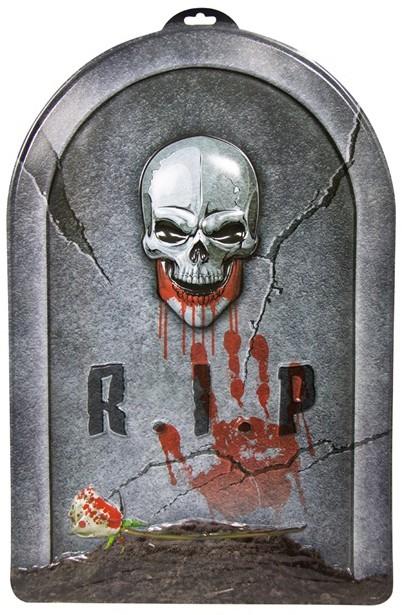 Foto Op Wanddecoratie.Wanddecoratie Halloween Grafsteen Rip 3d 56x38cm