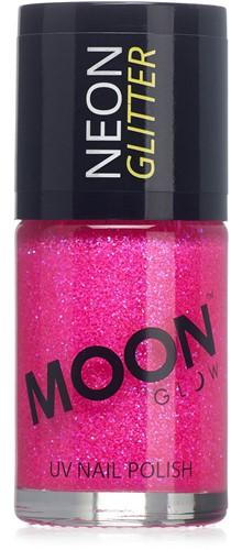 UV Nagellak Glitter Magenta (14ml)