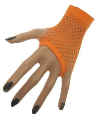 Nethandschoenen Vingerloos Kort Fluor Oranje