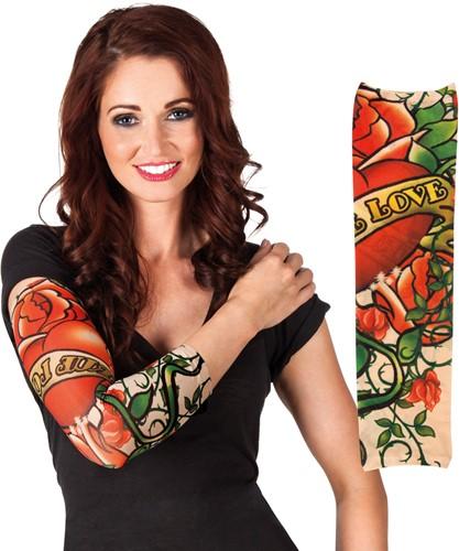 Tattoo Mouw True Love