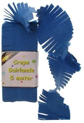 Crepe Guirlande Blauw 5mtr