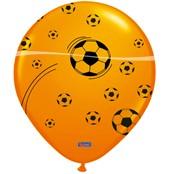 Ballonnen Oranje 25st Bedrukt Voetbal
