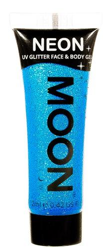 UV Gezicht en Body Schmink Glitter Blauw (12ml)