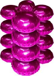 Cluster Folieballonnen Rond Metallic Pink 10st.