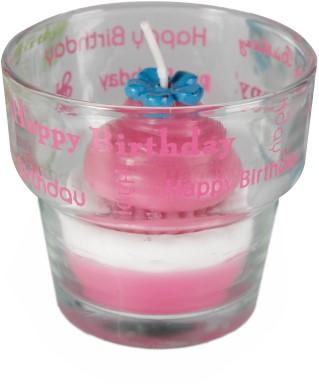 Happy Birthday Kaarsje Cupcake Pink-3