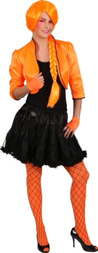 Bolero Jasje Satijn Neon Oranje