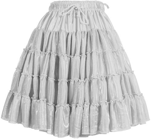 Petticoat Metallic Zilver Luxe