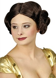 Damespruik Leia Donkerbruin (Star Wars)