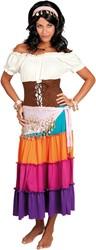Buikdansset Zigeunerin Roze (4 delig)