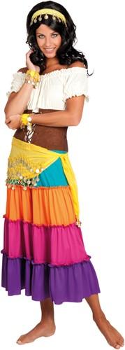 Buikdansset Zigeunerin Geel (4 delig)